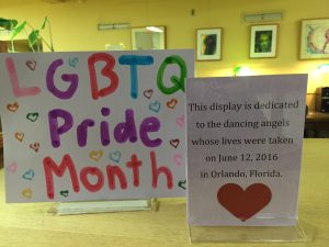 sign for LGBTQ display