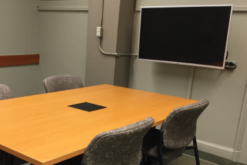 photo of study room with monitor