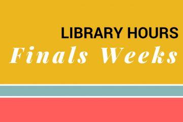 Finals Weeks Hours