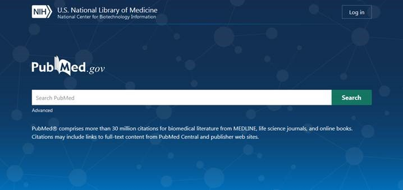 Screenshot of the new PubMed interface.