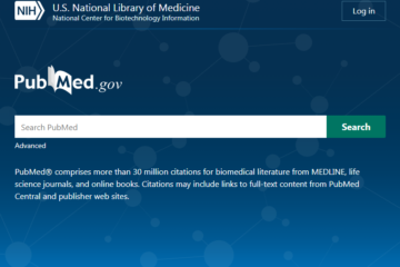 Screenshot of new PubMed interface