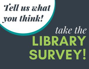 library survey promotional graphic