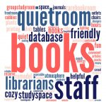 Word cloud of things students like about the library